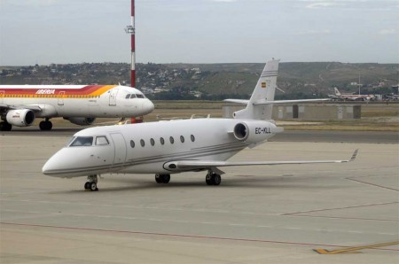 La aviación ejecutiva se traslada a Barajas
