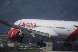 Avianca opera sus Boeing 787 bajo bandera de Estados Unidos.