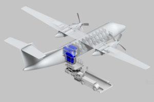 Propuesta de un avión de hidrógeno con depósitos reemplazables.
