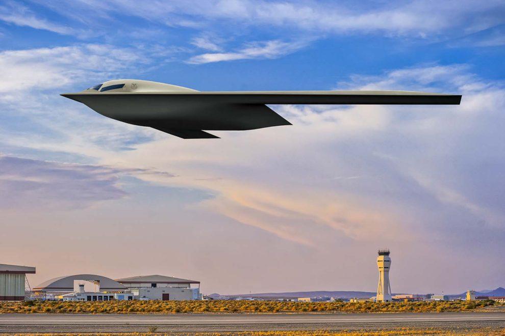 La nueva imagen del B-21 publicada por la USAF lo muestra despegando de la base aérea de Edwards, donde estarán basados los primeros.
