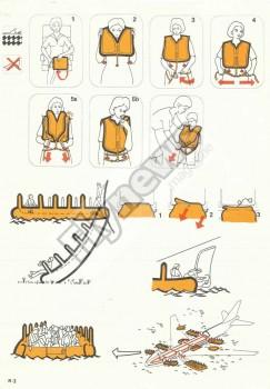 Instrucciones de seguridad del Boeing 747-200C de Iberia.