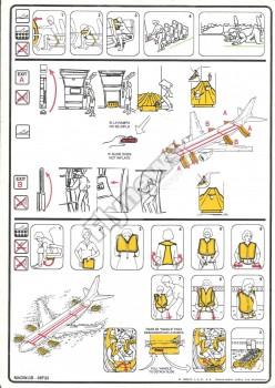 Instrucciones de seguridad del Boeing 767-300 de Iberia.