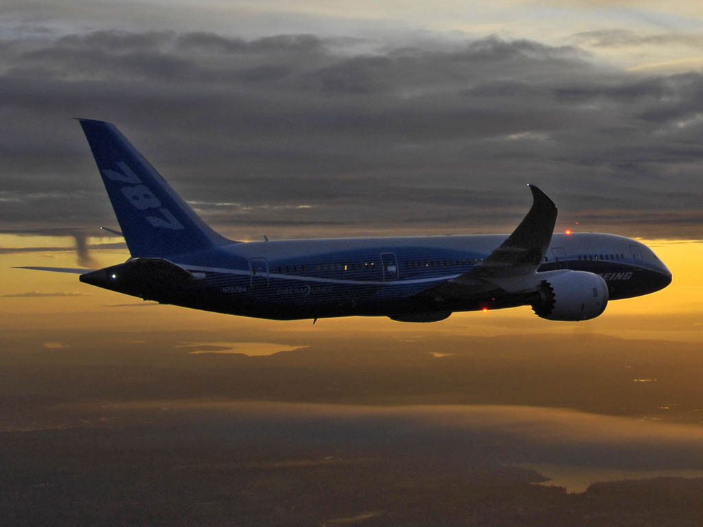 Boeing 787 en vuelo