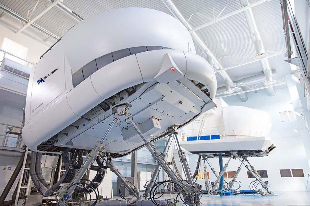 Simuladores de vuelo en uno de los centros de BAA Training.