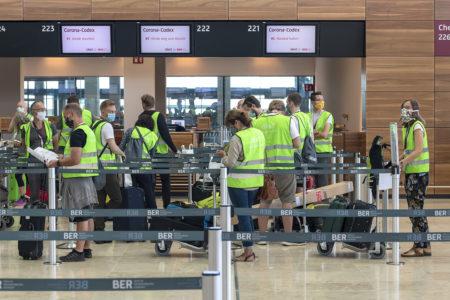Pruebas operacionales del nuevo aeropuerto de Berlín.