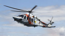Helicóptero de Slavamento Marítimo operado por Babcock.