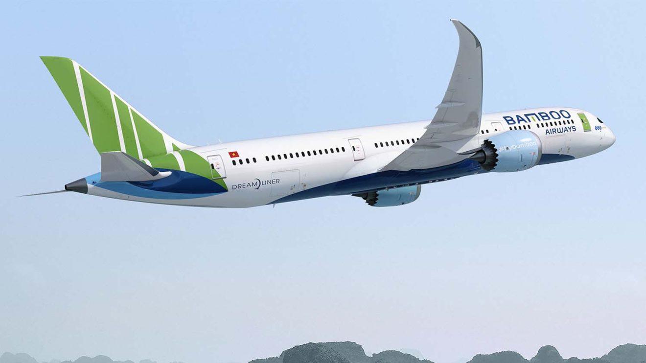 Boeing 787 con los colores de Bamboo Airways.