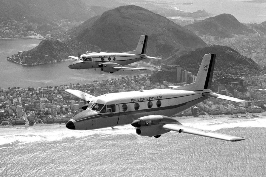 Prototipos del Embraer Bandeirante. El modelo dio origen a Embraer, que fue la encargada de producir este avión diseñado por la Fuerza Aérea de Brasil.