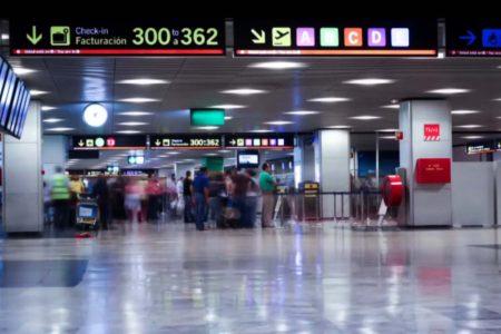 Interior de la T1 del aeropuerto de Madrid Barajas.