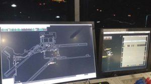 Pantallas radar usadas en la torre de control de Madrid Barajas.