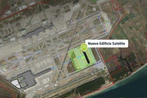 El nuevo edifico satéliite del aeropuerto de Barcelona El Prat se ubicará junto a la torre de control, cerca de las cabeceras de las pists 25L y 02.