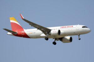 El Airbus A320neo EC-MXY aterrizando en Barajas.