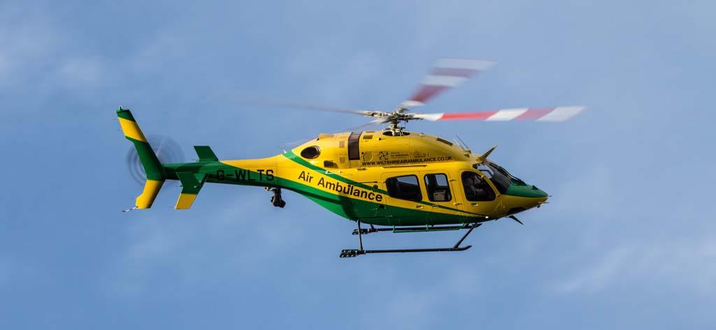 El Bell 429 de Heli Charter operado en versión sanitaria será uno de los helicópteros de cuyos motores cuidará ITP.