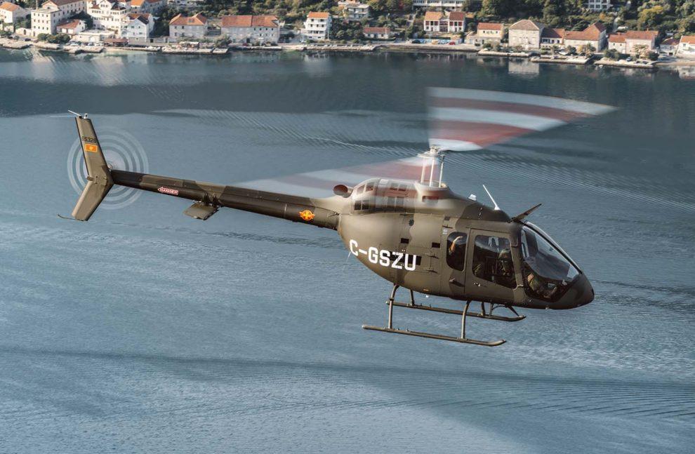 El segundo Bell 505 de la Fuerza Aérea de Montenegro fue entregado portando todavía la matrícula canadiense de pruebas.