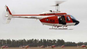 Bell TH-57 de los Marines, uno de los helicópteros que sustituirá el nuevo modelo que se seleccionará en 2020.