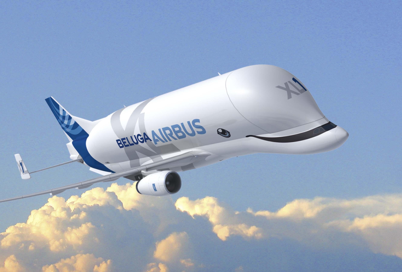 """Además de enfatizar el """"XL"""" por su mayor tamaño, los nuevos Beluga serán adornados con ojos y la boca sonriente de estos mamíferos marinos."""