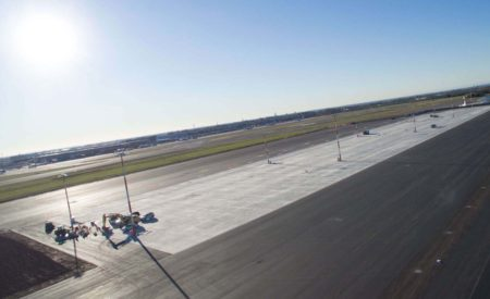 Ampliación de la plataforma de estacionamiento de aeronaves del aeropuerto de Milán Bérgamo.