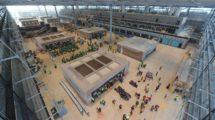 Interior de la terminal del aeropuerto de Berlín Brandembrugo durante las obras.