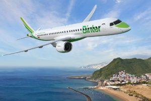 Binter será la primera aerolínea europea en poner en servicio el Embraer E195-E2.