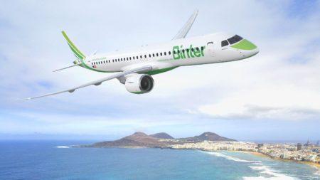 Entre los pedidos de Embraer, dos E195-E2 más para Binter.