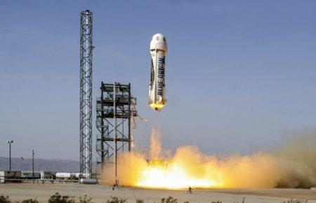 Pruebas de lanzamiento del cohete New Shepard de Blue Origins.