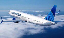Boeing 737 MAX 10 con colores de United Airlines