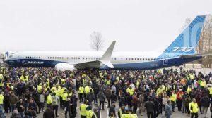 Pressentación oficial del B-737 MAX 10 en noviembre de 2019. Solo para empleados.