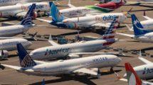 Boeing 737 MAX aalmacenados a la espera de su entrega.