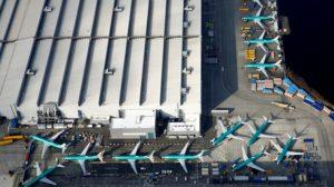 Factoría de Boeing en Renton,, en la que se montan los Boeing 737 y donde los MAX se amontonan a la espera de poder ser entregados.