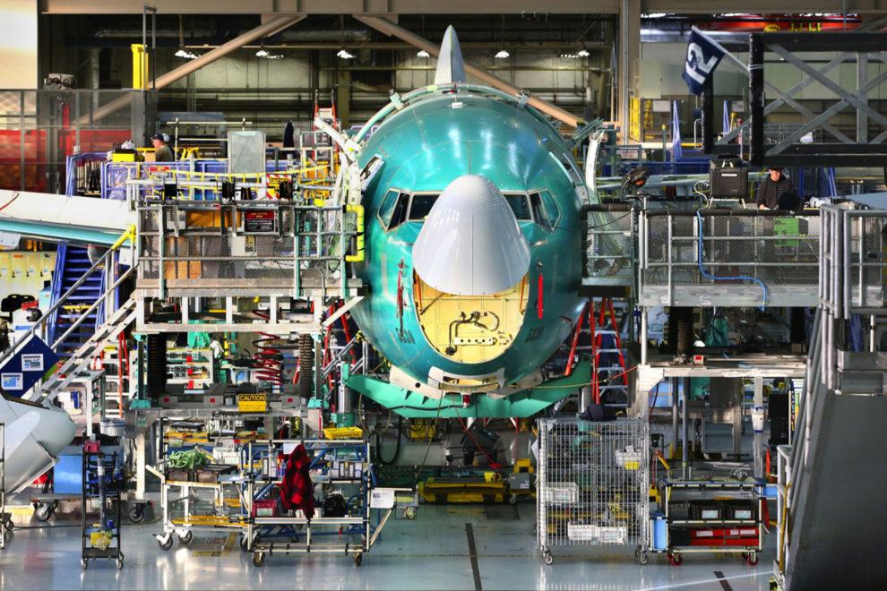 Cadena de montaje del Boeing 737.