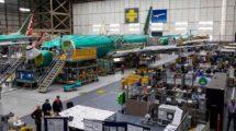 Cadena de montaje del Boeng 737 en Renton.