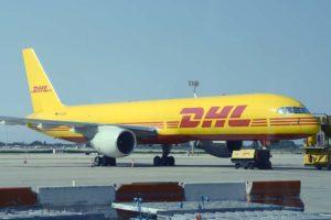 Boeing 757 de DHL en el aeropuerto de Barcelona El Prat.