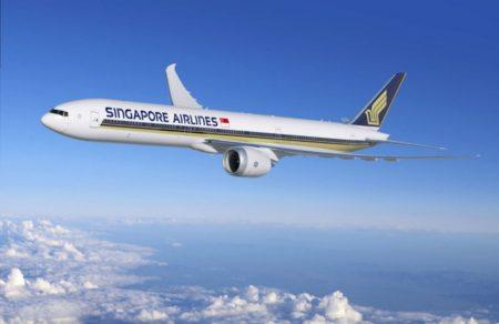 Boeing 777X con los colores de Singapore Airlines