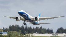 Despegue del aeropuerto de Everett del segundo Boeing 777-9.