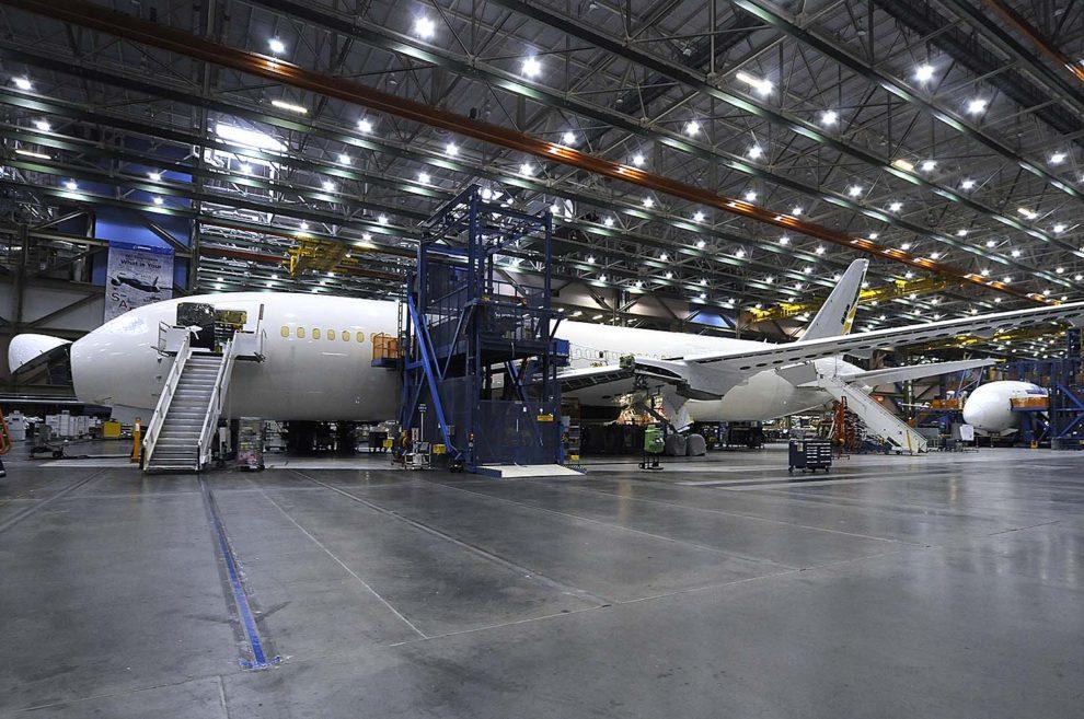Cadena de montaje del Boeing 787 en Everett.