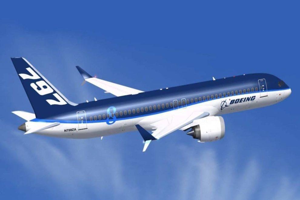 Uno de los muchos dibujos conceptuales del Boeing 797, el NMA, que circulan por internet.