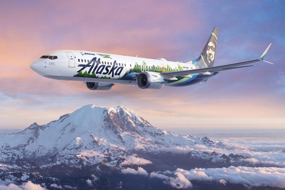 El Boeing 737-9 MAX de Alaska Airlines que Boeing usará como Ecodemostrador en 2021 irá especialmente decorado.