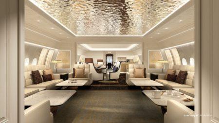 Una de las propuestas de interior para los nuevos BBJ 77X.