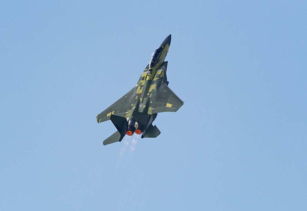 Despegue de máximas prestaciones del primer F-15EX para la USAF.