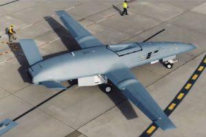 El primer Boeing MQ-25 durante sus pruebas.