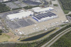 Vista aérea de las instalaciones de Boeing en North Charleston (Carolina del Sur)..
