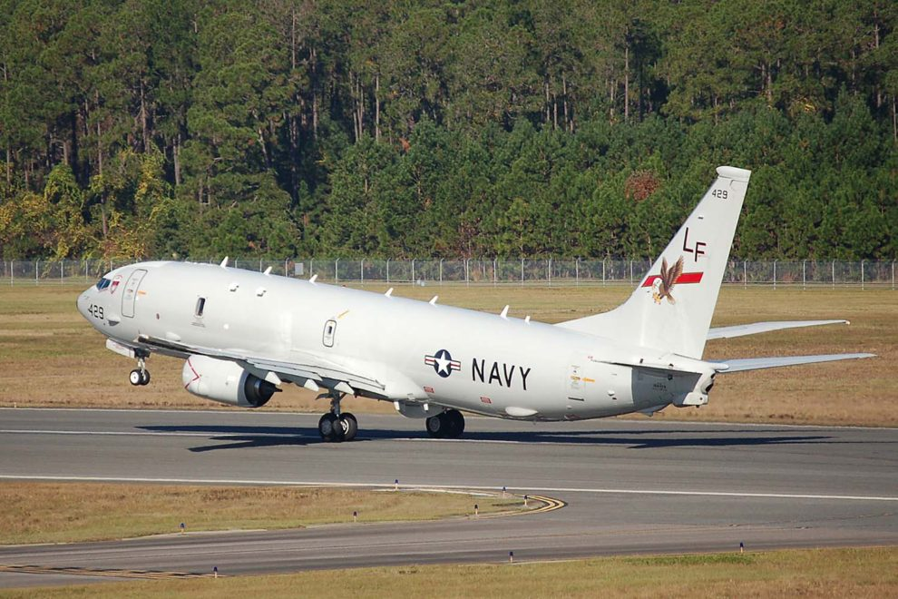 Boeing P-8A de la Marina de Estados Unidos.