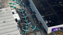 Aviones Boeing 737 MAX almacenados.