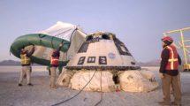 Recuperación de la cápsula Starliner tras su vuelo el pasado mes de dicembre.