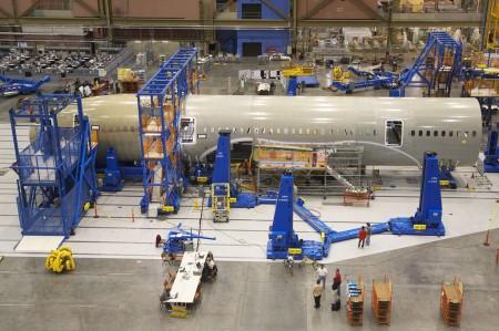 Cadena de montaje del Boeing 787