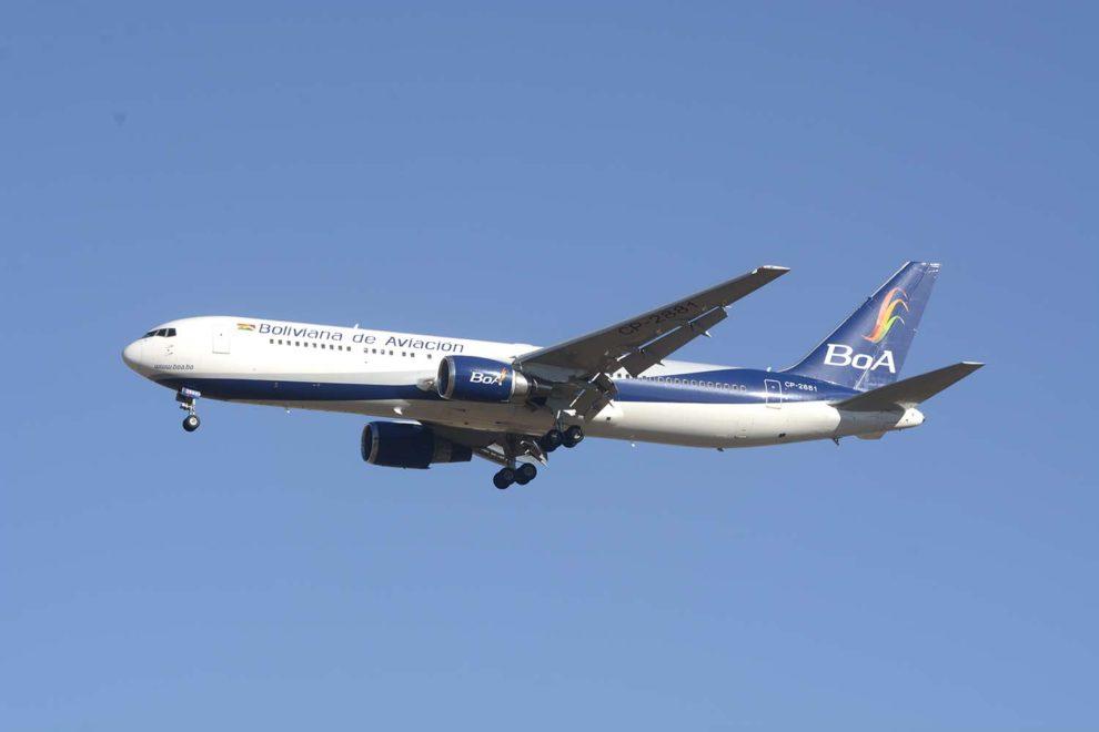 Boeing 767 de Boliviana de Aviación.