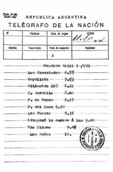 Reporte de los distintos avistamientos del avión de Bolland a lo largo de su ruta.