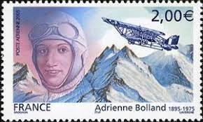 En 2005 Francia dedicó un sello a Adrienne Bolland.