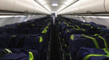 Ls nueva bolsas para carga en los asientos de un A320..