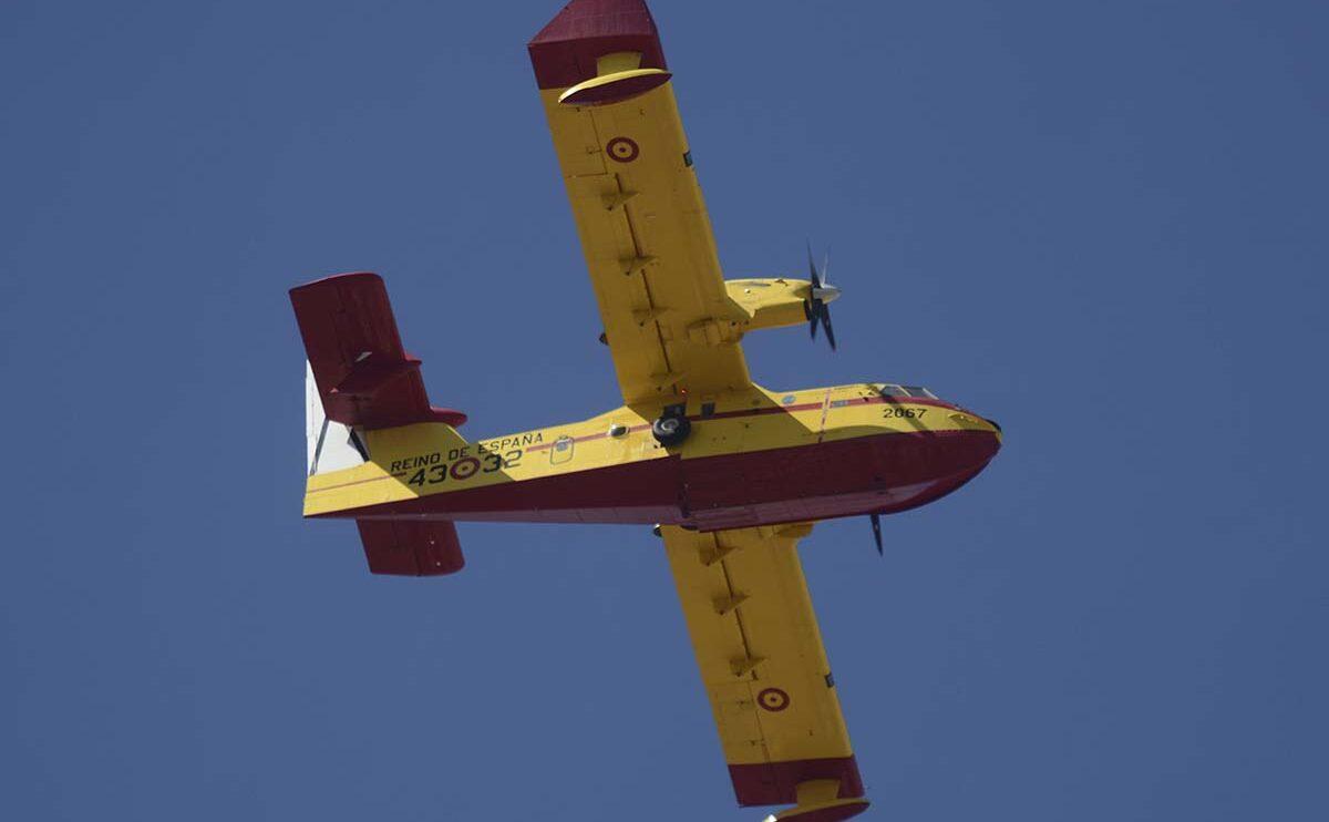 Dos CL-215T y un CL-415 han sido la representación del 43 Grupo, los famosos Botijos.